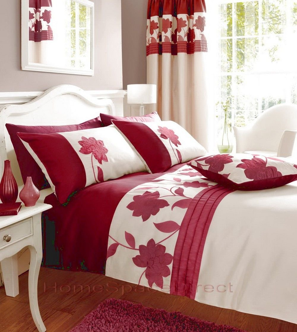 Best Bedroom Curtains With Matching Bedding Red Bedding With Pictures