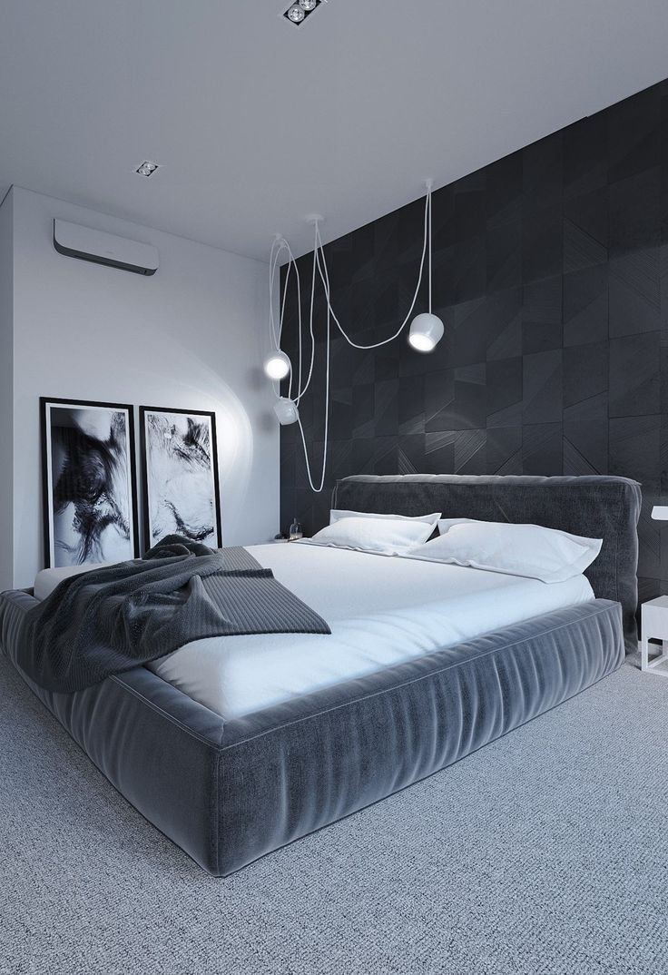 Best Imagine Sleeping In This Minimalist Black White Gray With Pictures
