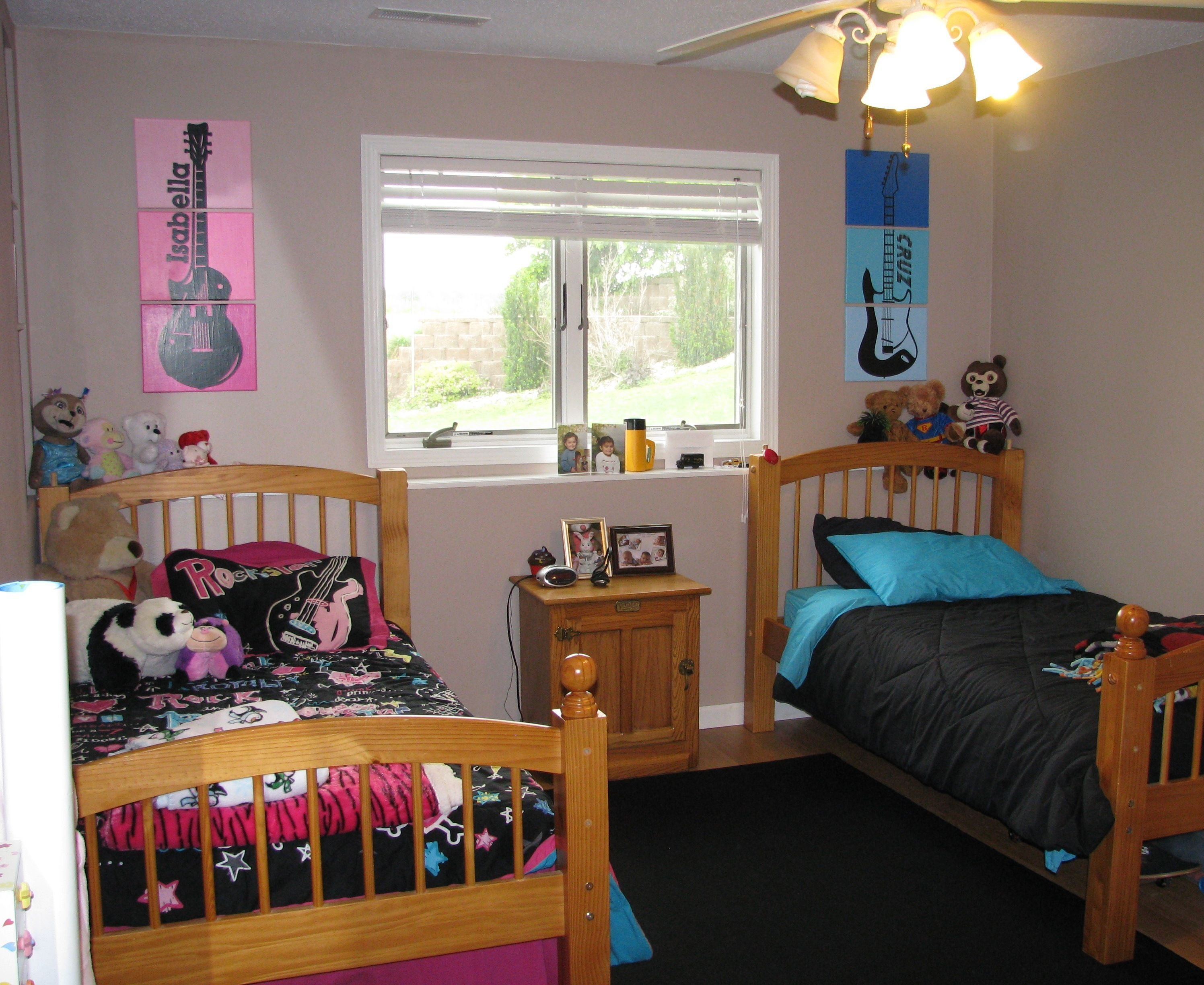 Best Rock N Roll Guitar Bedroom For My 7 Year Old Twins Boy With Pictures