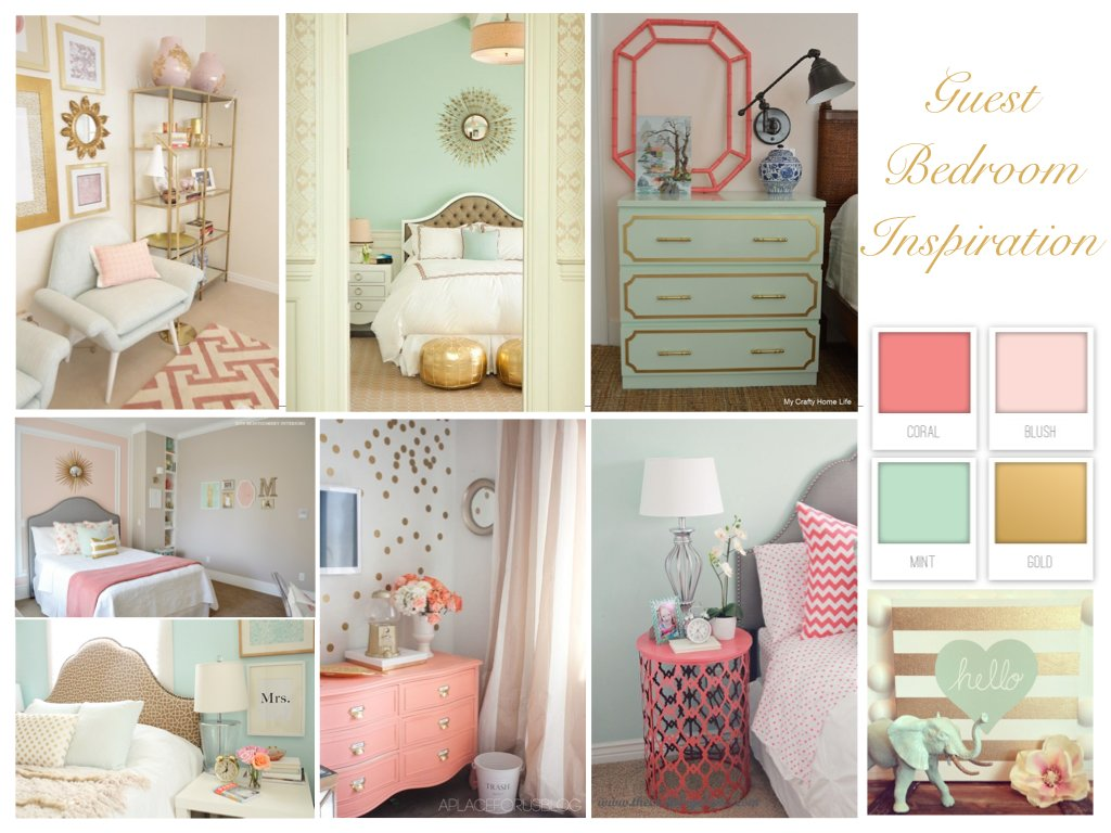 Best Guest Bedroom Inspiration Coral Mint And Gold Perfection With Pictures