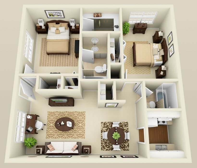 Best Two Bedroom Apartment Layout Google Search Houses With Pictures