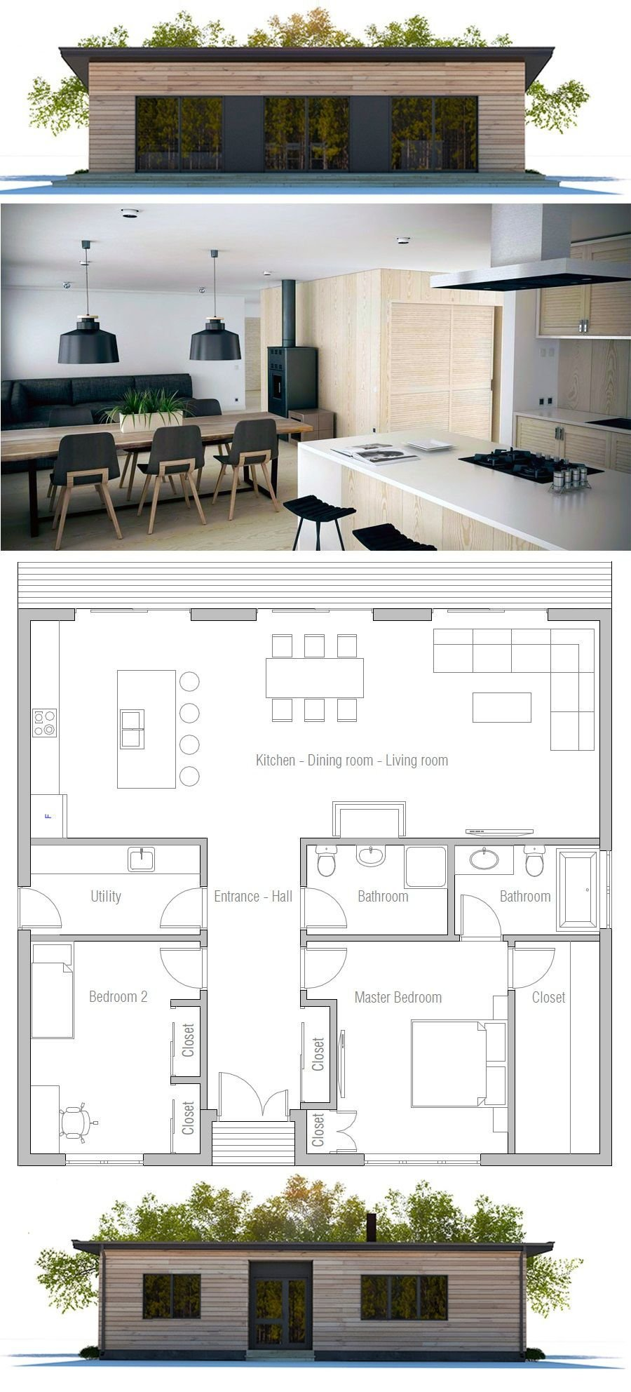 Best Two Bedroom House Plan House Container House Plans With Pictures