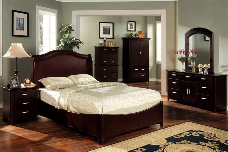 Best Grey Paint Colors For Bedroom With Dark Cherry Furniture With Pictures