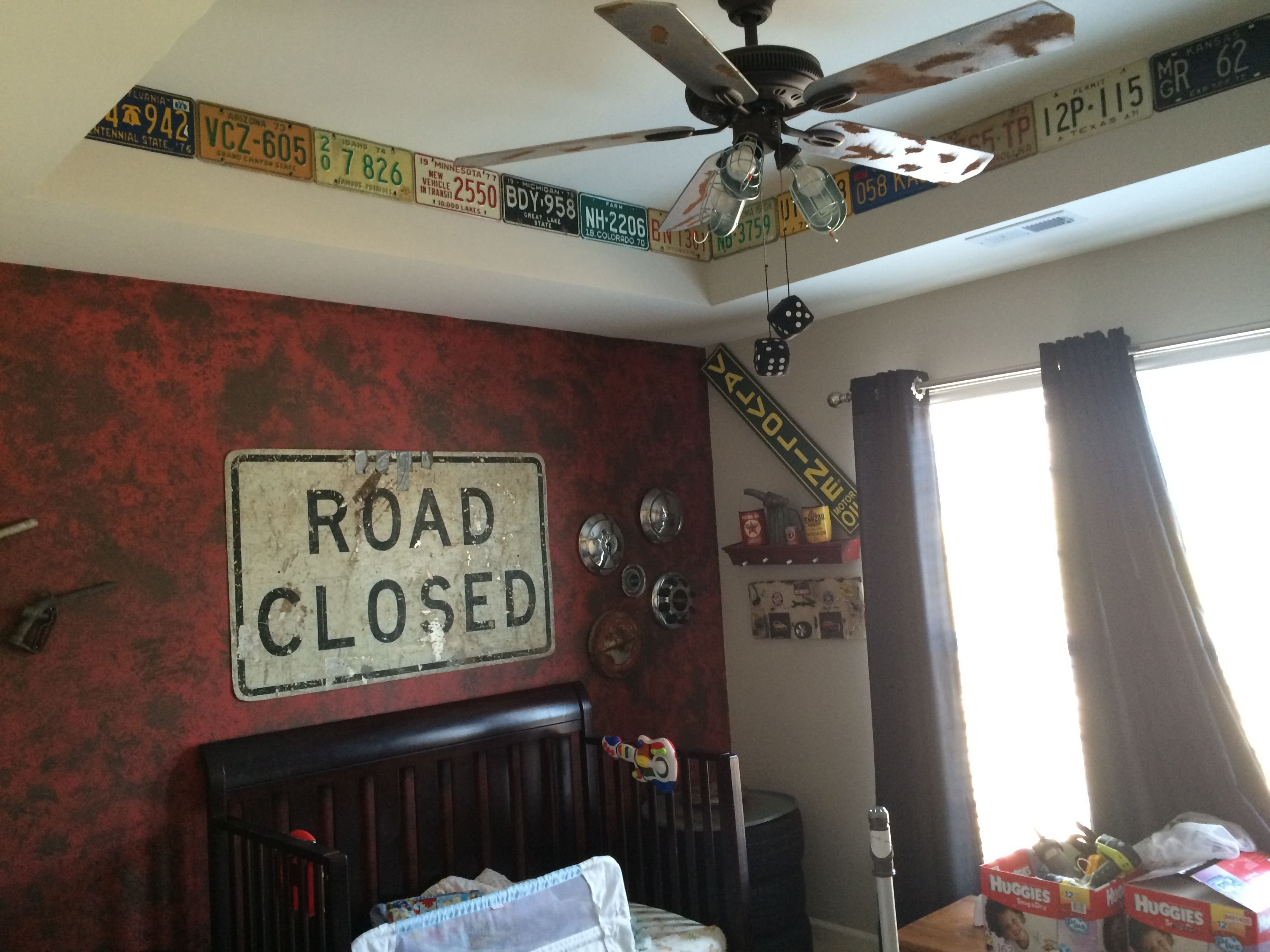 Best Vintage Car And Truck Decor Decorations Man Cave Boys Room With Pictures