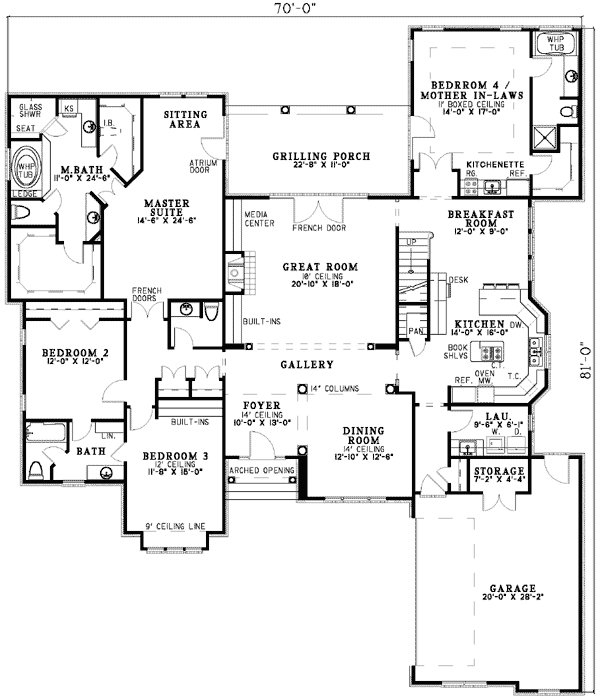 Best Plan 5906Nd Spacious Design With Mother In Law Suite House Plans House Plans Ranch House With Pictures