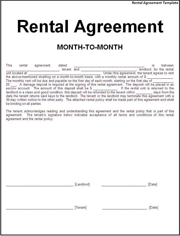 Best Printable Sample Simple Room Rental Agreement Form Real With Pictures