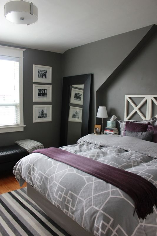 Best 8 Gray Bedrooms Play With Coloration Gray Bedroom Ideas Purple Gray Bedroom Home Bedroom With Pictures