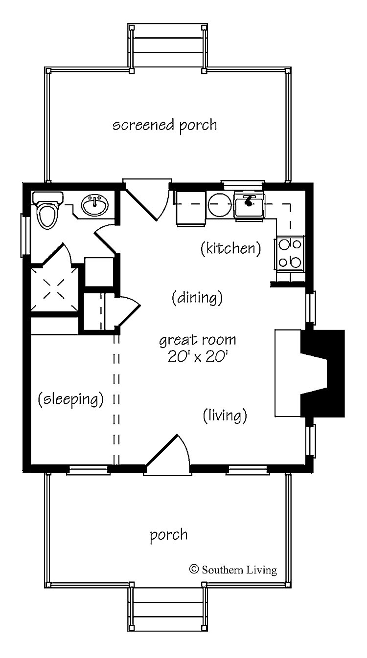 Best One Bedroom House Plans Home Plans Homepw24182 412 With Pictures