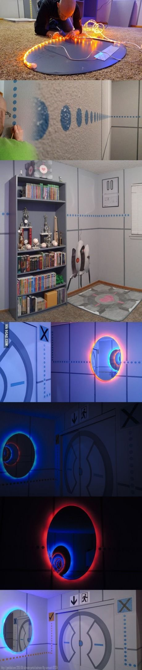 Best Epic Portal Themed Bedroom Coll Cooles Zeug With Pictures