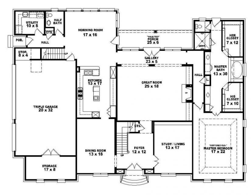 Best 653921 Two Story 4 Bedroom 3 5 Bath French Style House Plan House Plans Floor Plans Home With Pictures