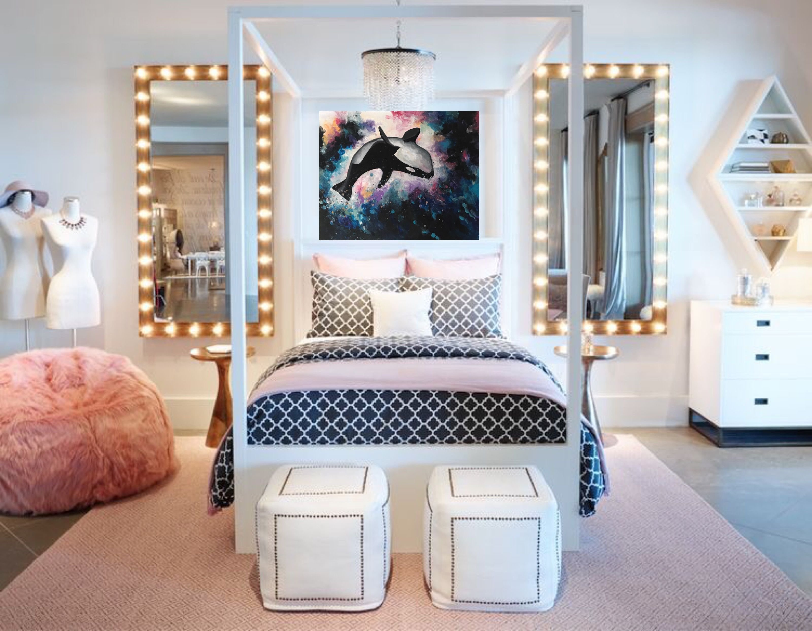 Best Glam Bedroom Glamorous Bedroom Glam Art Fashion Art With Pictures