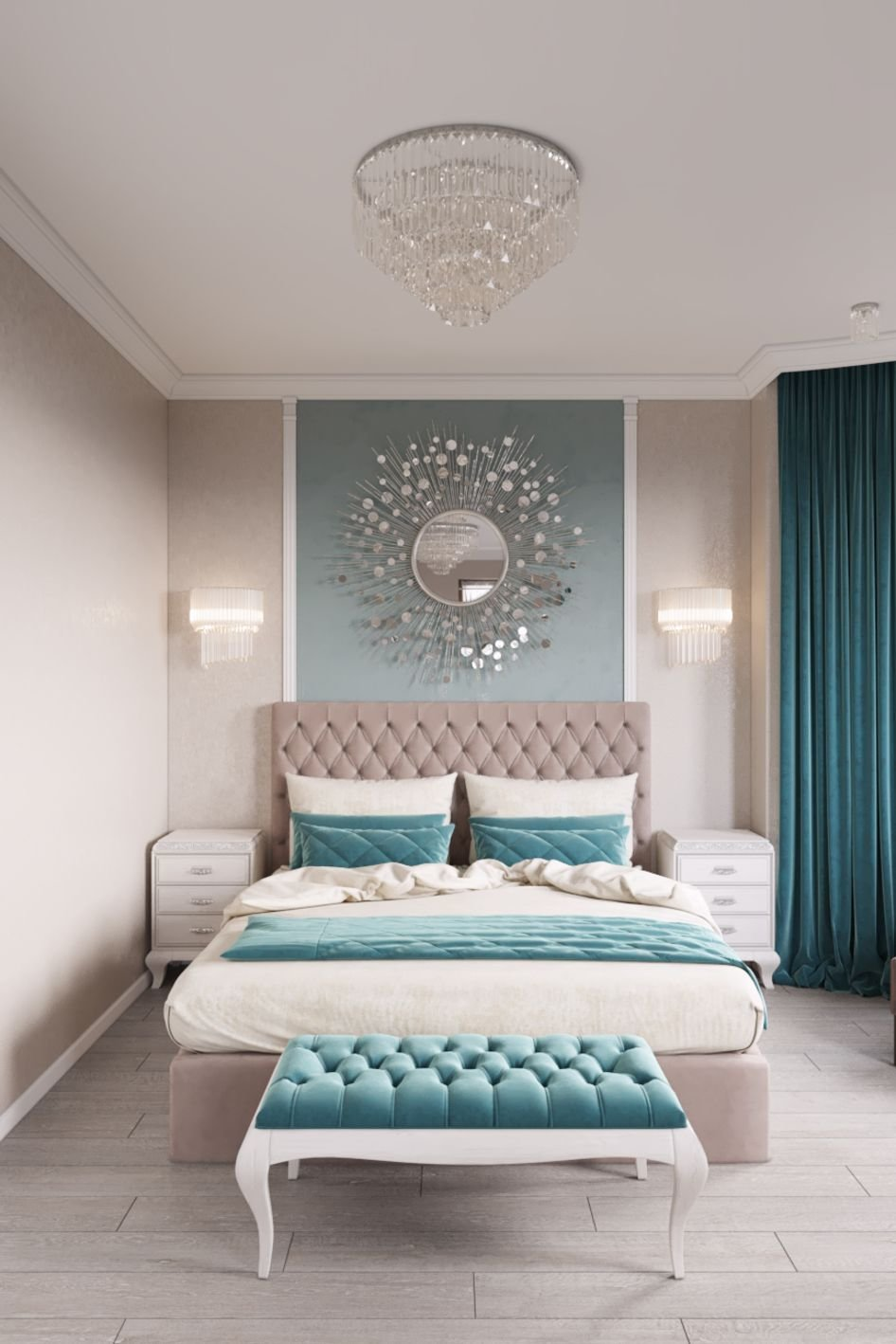 Best Round Mirror Over The Bed Or Swap For Rectangular Metal With Pictures