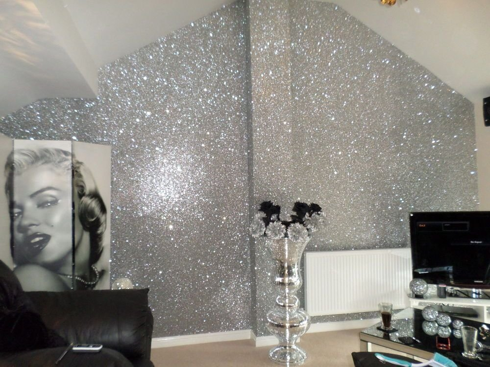 Best Details About Sample Glitter Wallpaper Chunky Fabric With Pictures