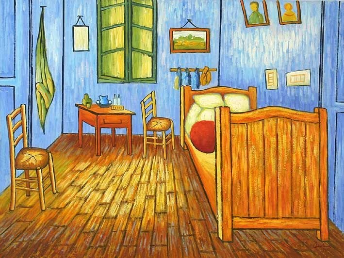 Best An Goghs Bedroom In Arles Oil Paintings On Canvas Van With Pictures