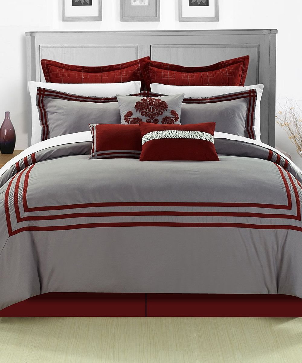 Best Red Cosmo Comforter Set Zulily Bed Covers Comforters With Pictures