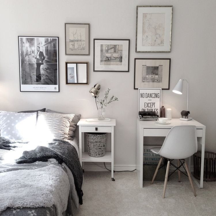 Best Charming Bedroom With Small Work Space With Ikea Micke With Pictures