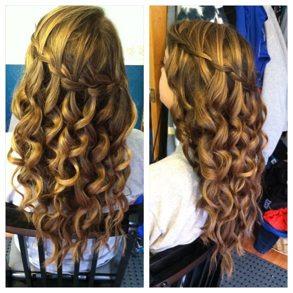 Free Waterfall Braid Curing Wand Curls Hair And Beauty Wallpaper