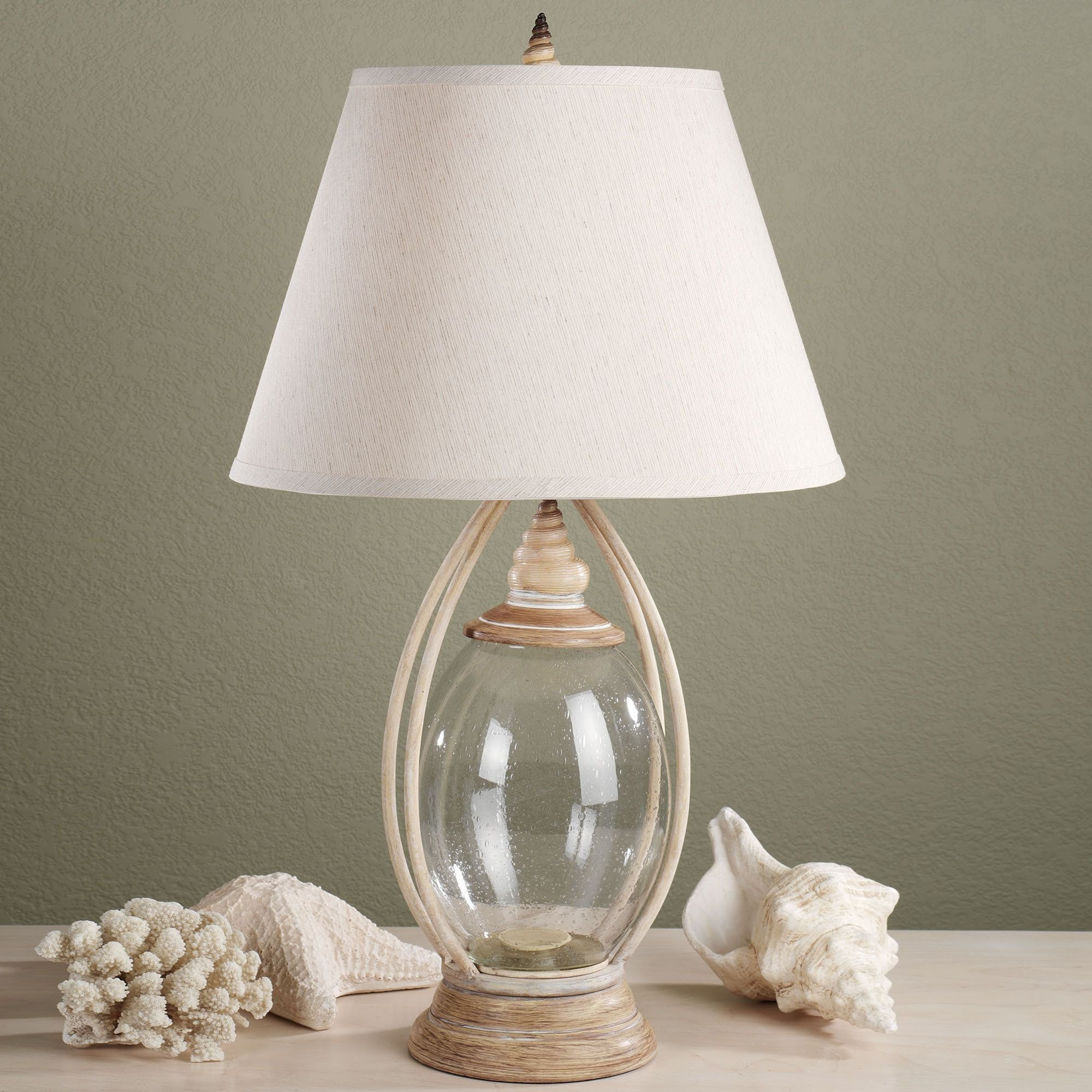 Best Sea Treasures Fillable Glass Table Lamp All I Need Is The Beach House Table Lamps For With Pictures
