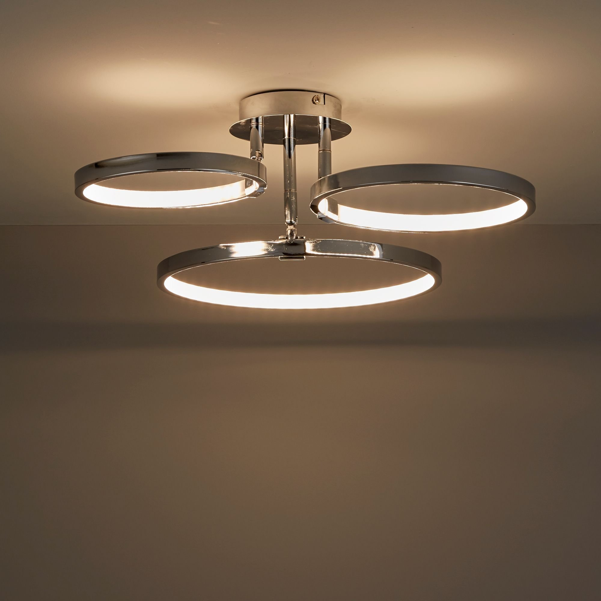 Best Guest Bedroom £58 Annellus Chrome Effect 3 Lamp Ceiling Light Departments Diy At B Q With Pictures