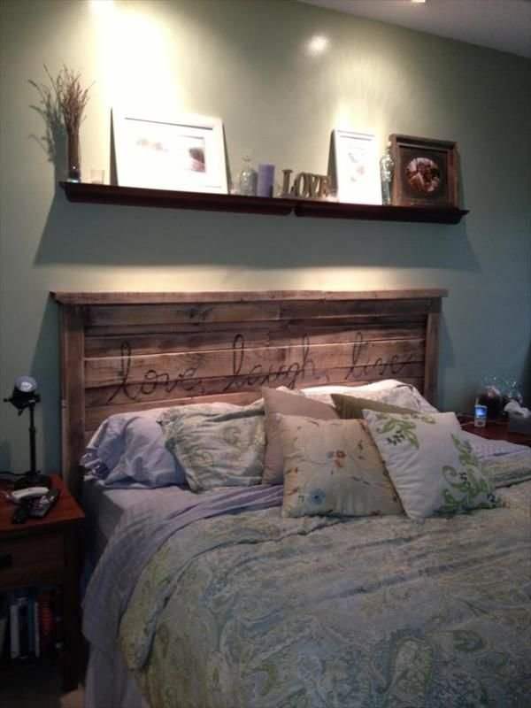 Best 40 Recycled Diy Pallet Headboard Ideas Pallets With A With Pictures