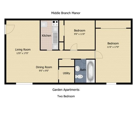 Best Floorplan The Communities At Middle Branch Apartments With Pictures