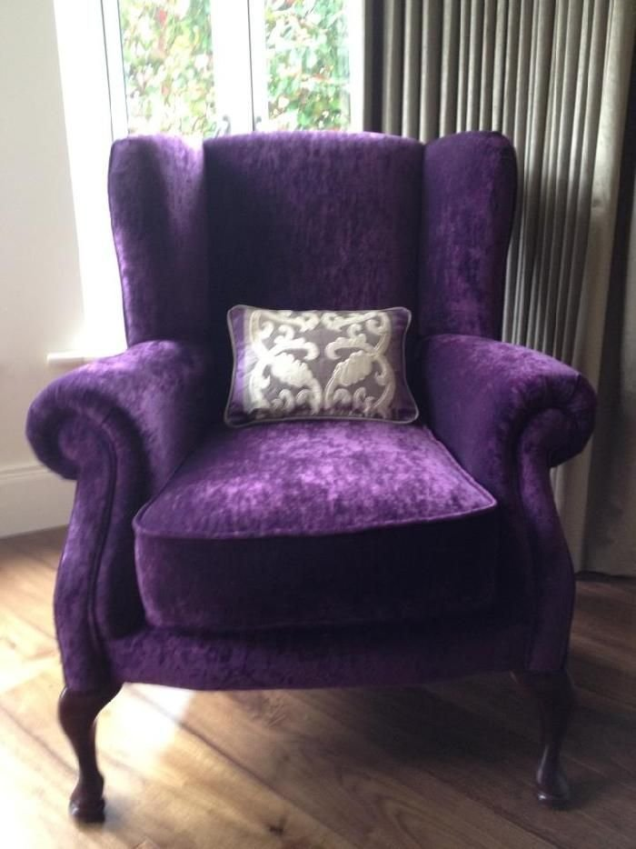 Best Purple Velvet Wingback Chair Dream Office Purple With Pictures