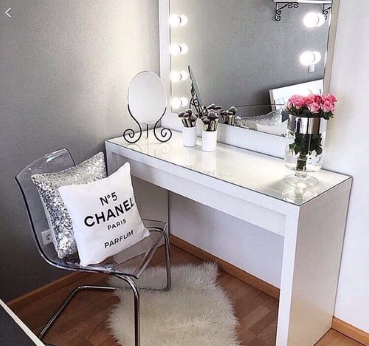Best Cute White Chanel Room Makeup Table Beauty Lounge With Pictures