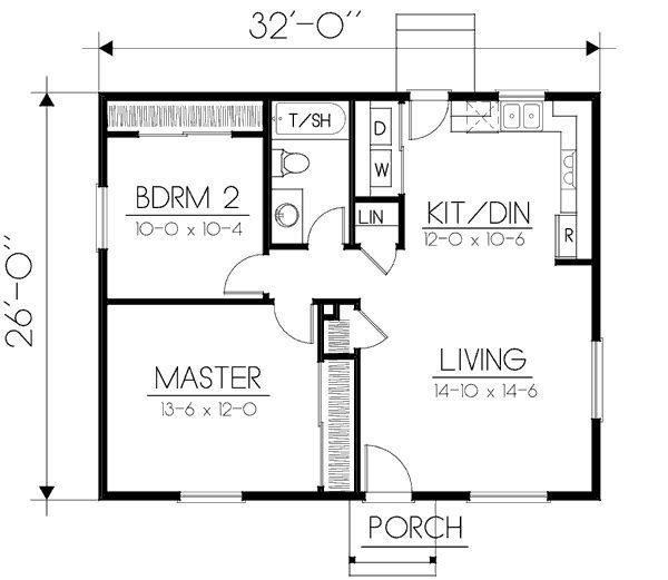 Best Image Result For 650 Square Foot 2 Bedroom House Plans House Plans House Plans Ranch House With Pictures