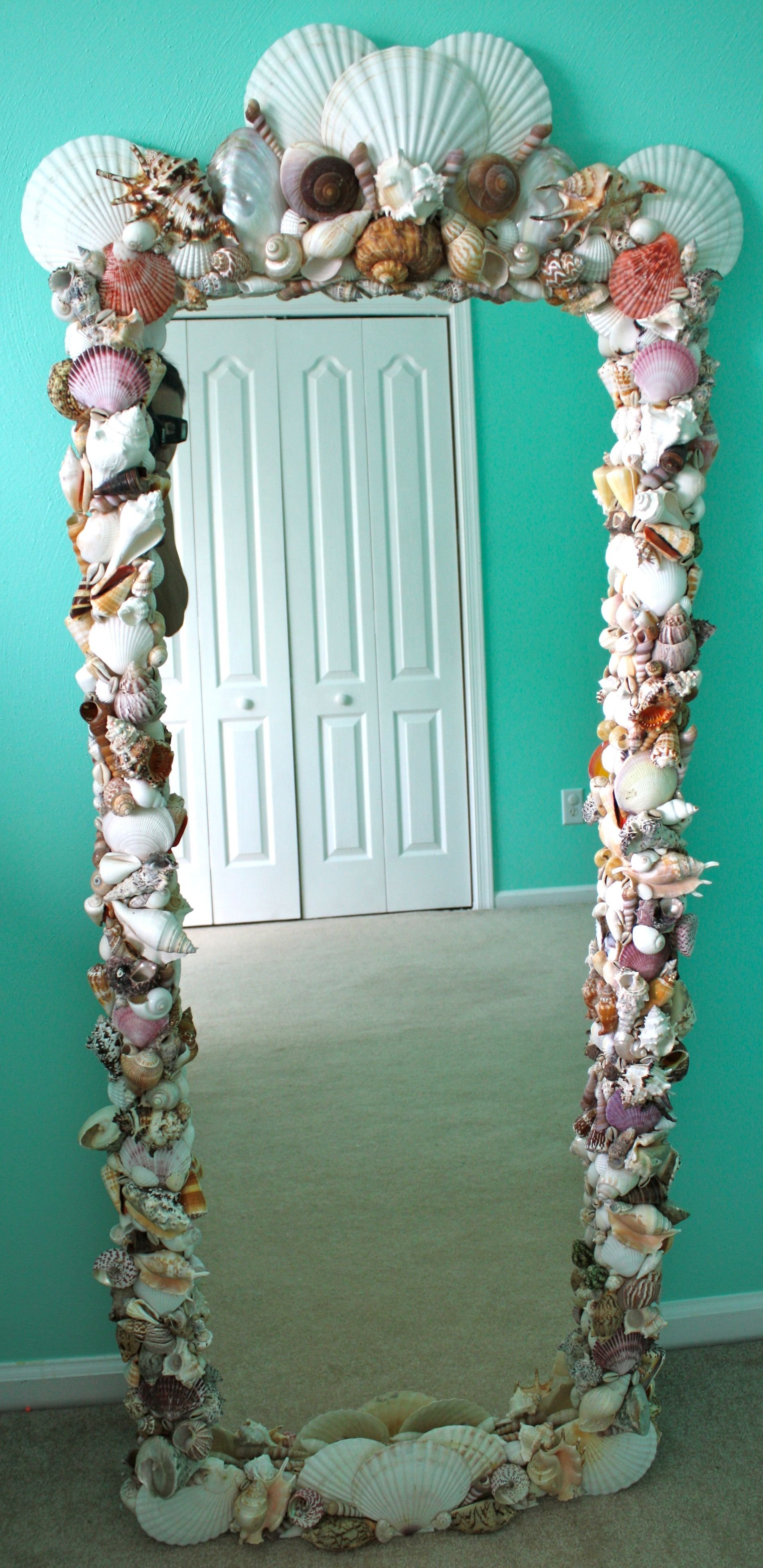 Best Diy Shell Mirror Purchased Shells From Michael S And Other With Pictures