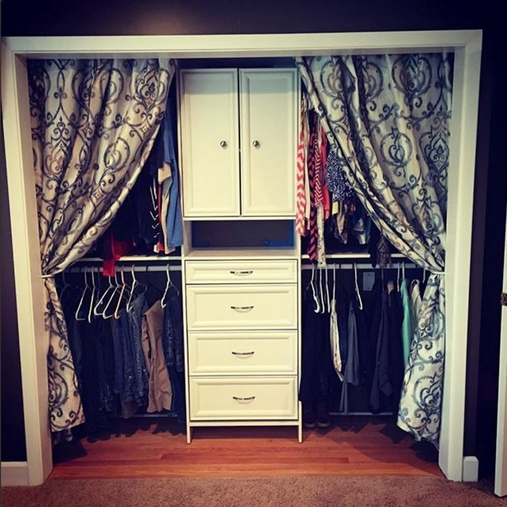 Best We Love This Look Add Curtains If You Don't Have Doors On Your Closet Closetmaid Before With Pictures