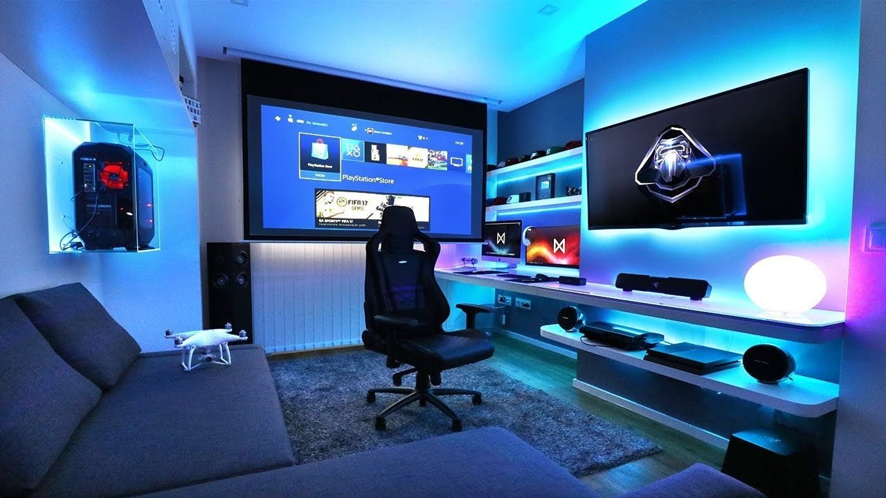 Best 21 Interesting Game Room Ideas Rooms Quarto Gamer With Pictures