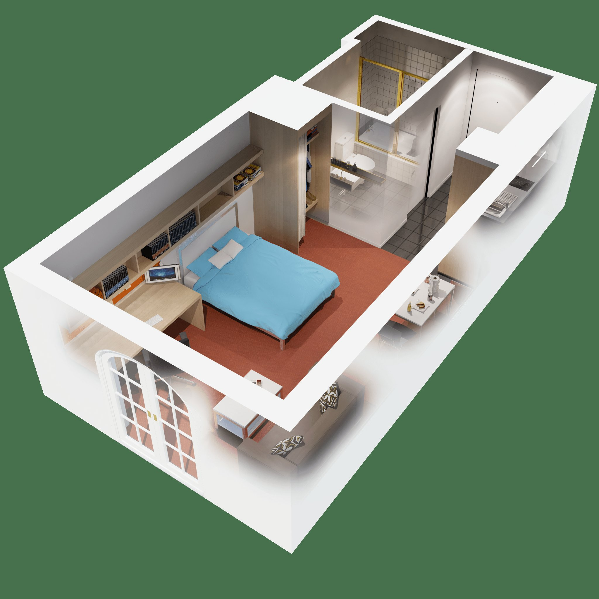 Best Amazing Apartments Modern One Bedroom Apartment Interior With Pictures