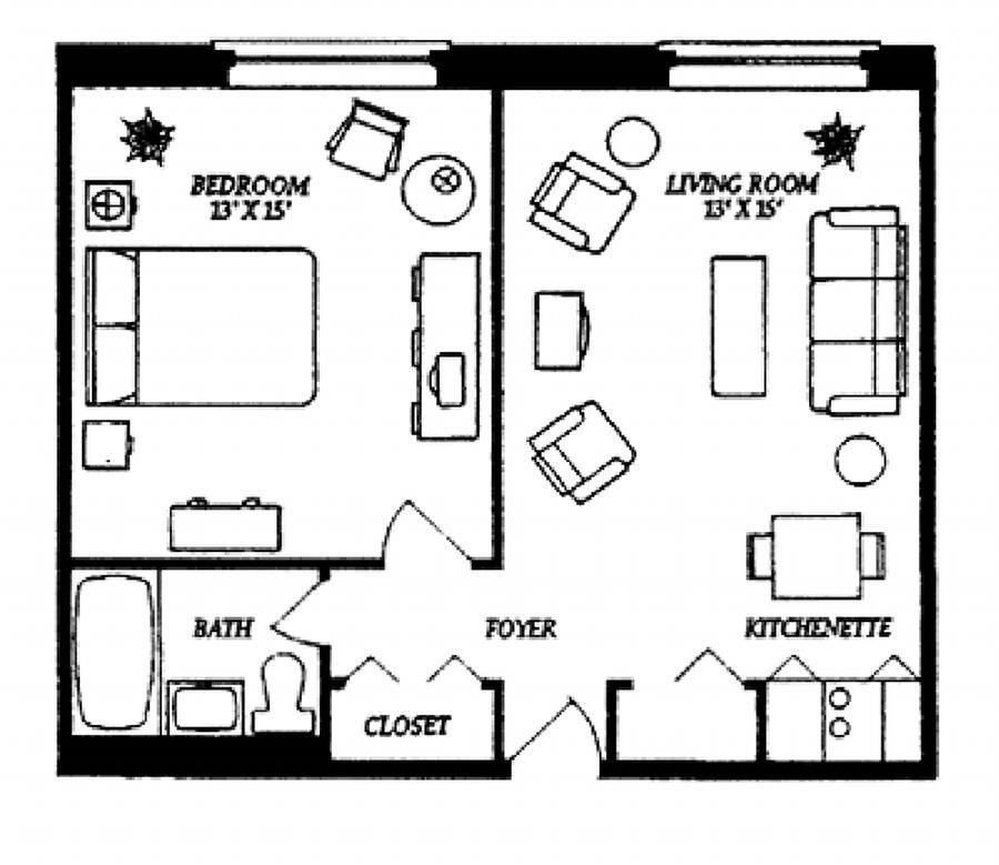 Best Small Studio Apartment Floor Plans Our One Bedroom With Pictures