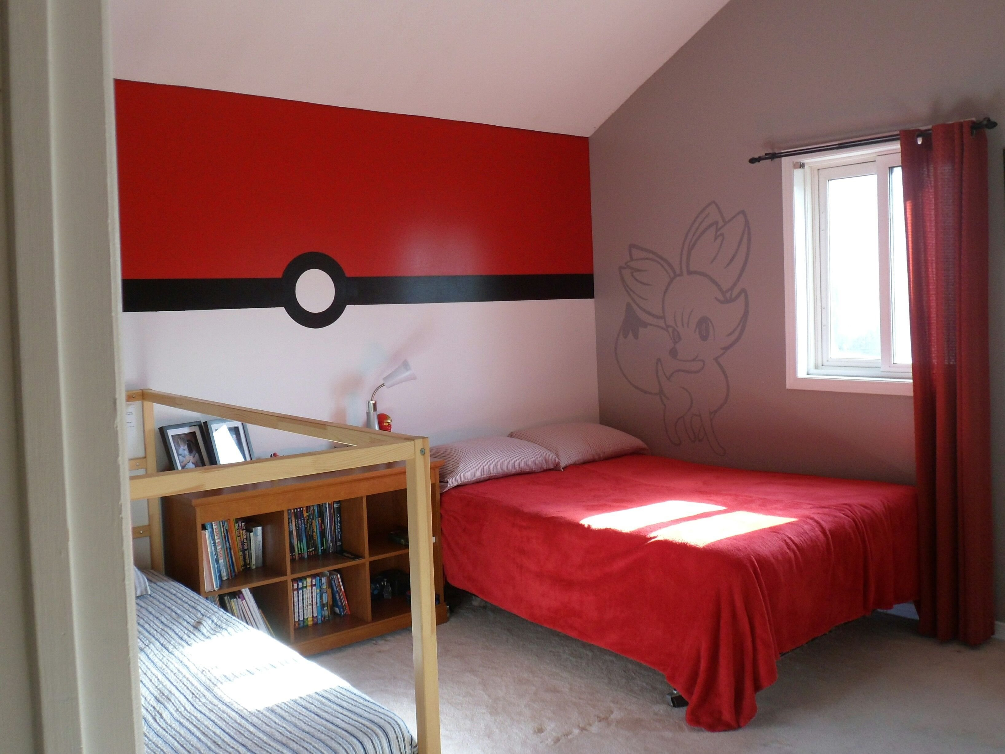Best Pokemon Bedroom Pokeball Wall Game Rooms In 2019 With Pictures