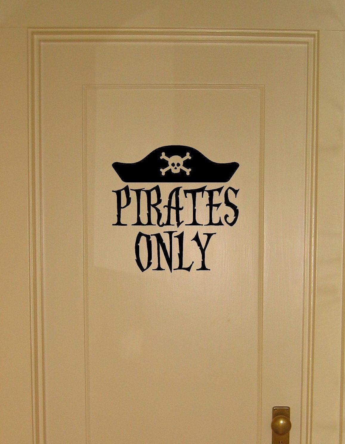 Best Pirates Only Vinyl Wall Decal For Bedroom Door Or Wall Becks Room Wall Decals For Bedroom With Pictures