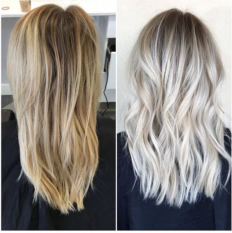 Free Before And After Icy Blonde With Shadowed Roots Habit Wallpaper