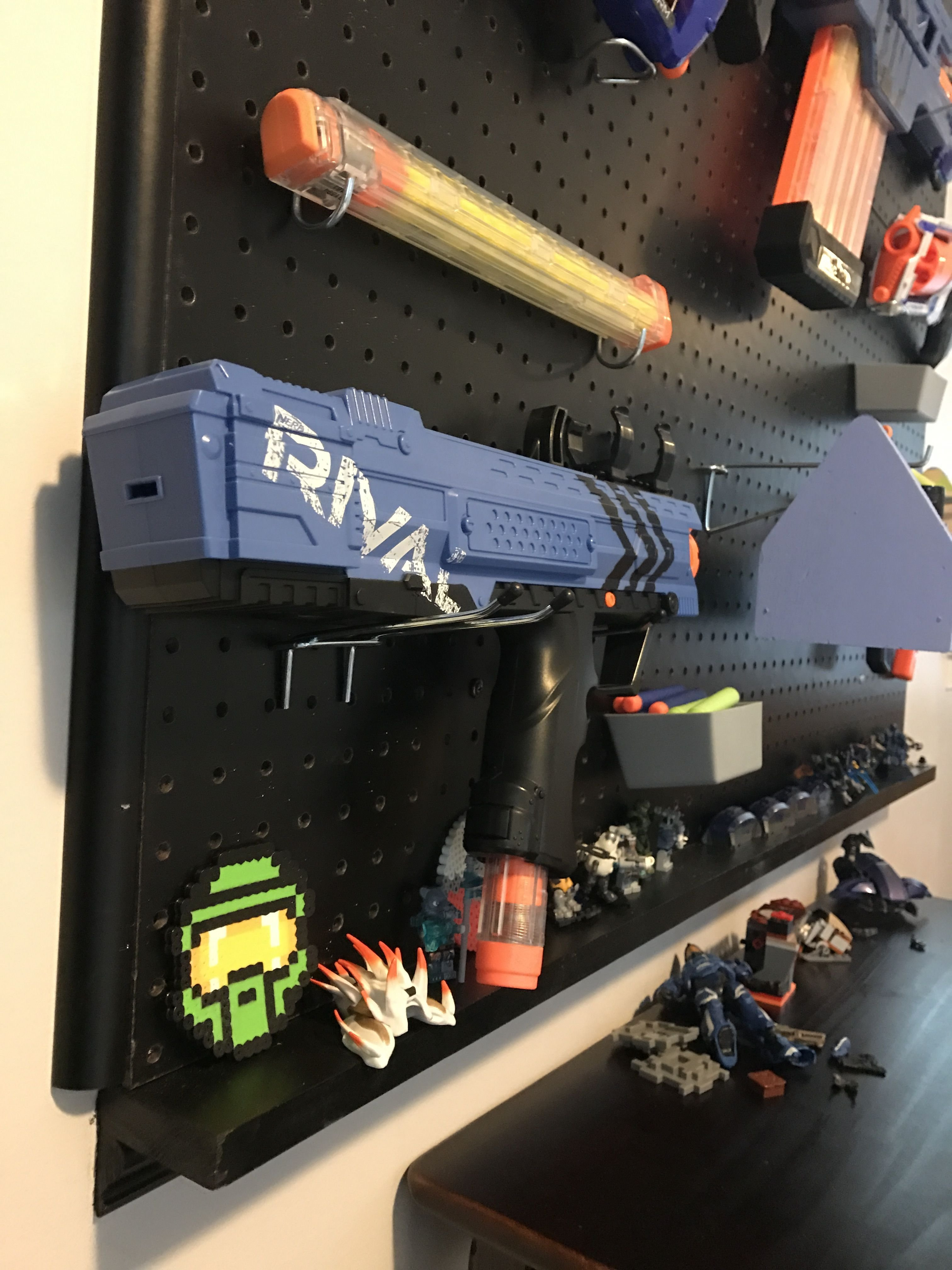 Best Build A Nerf Gun Peg Board Wall Boys Bedroom In 2019 With Pictures