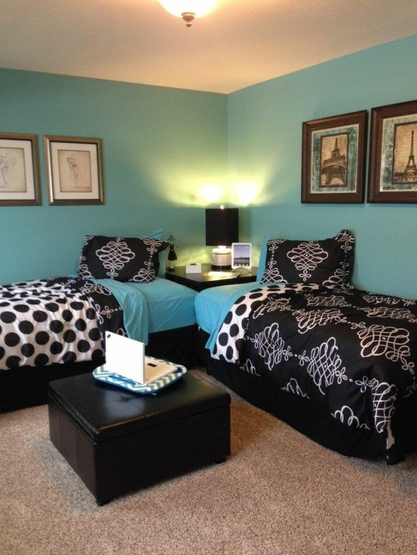 Best Modernized Turquoise And Black Bedroom With Pictures