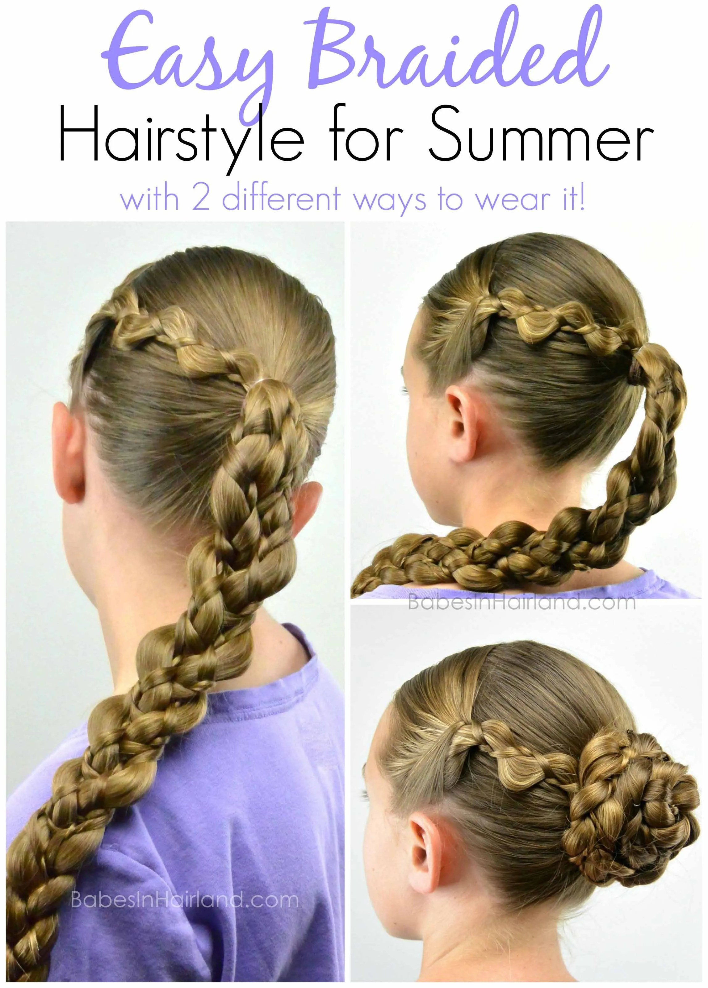 Free Easy Braided Hairstyle For Summer B*B*S In Hairland Wallpaper
