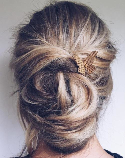 Free 40 Updos For Long Hair – Easy And Cute Updos For 2019 Wallpaper