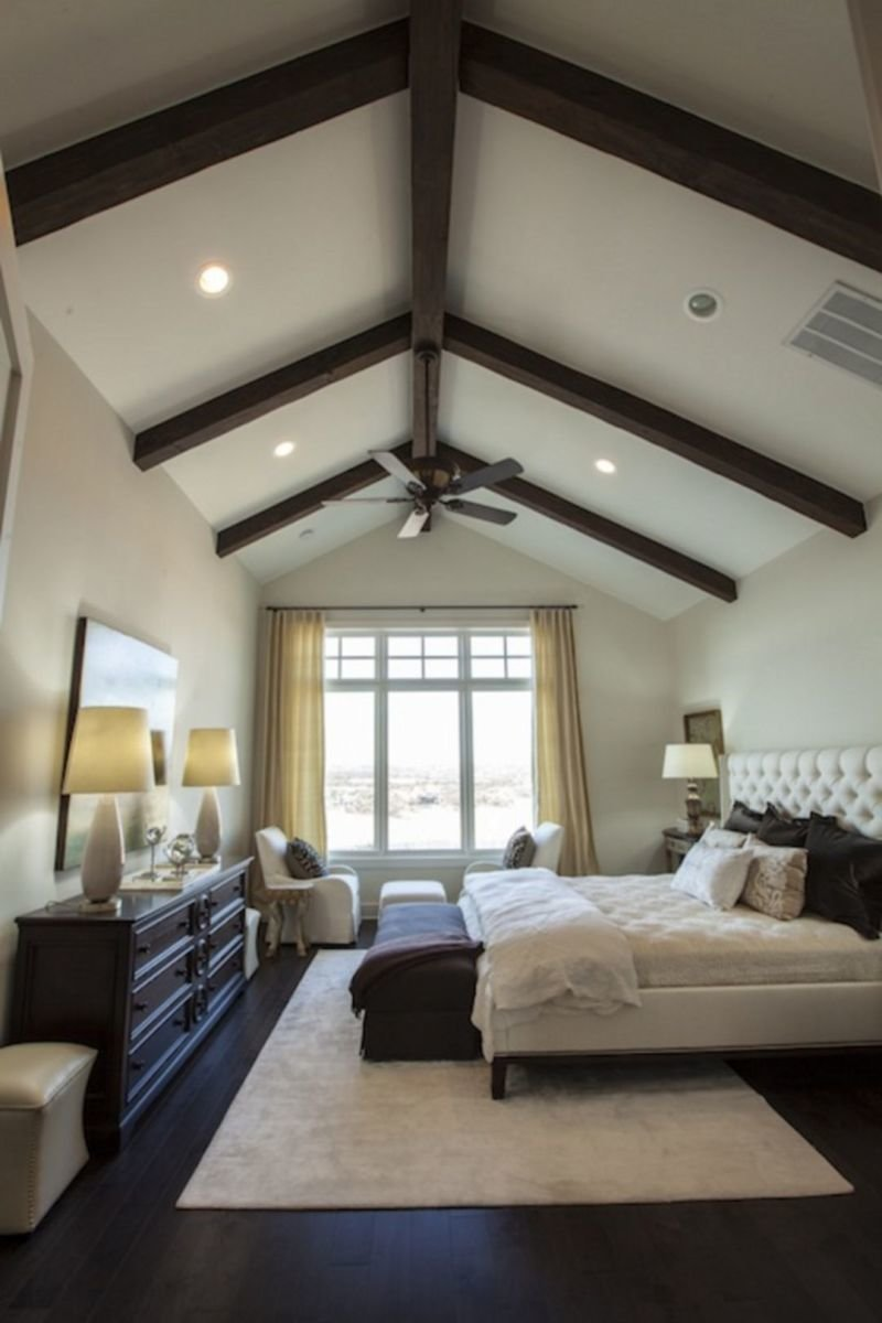 Best 30 Vaulted Ceiling Bedroom Design Ideas For Inspiration With Pictures