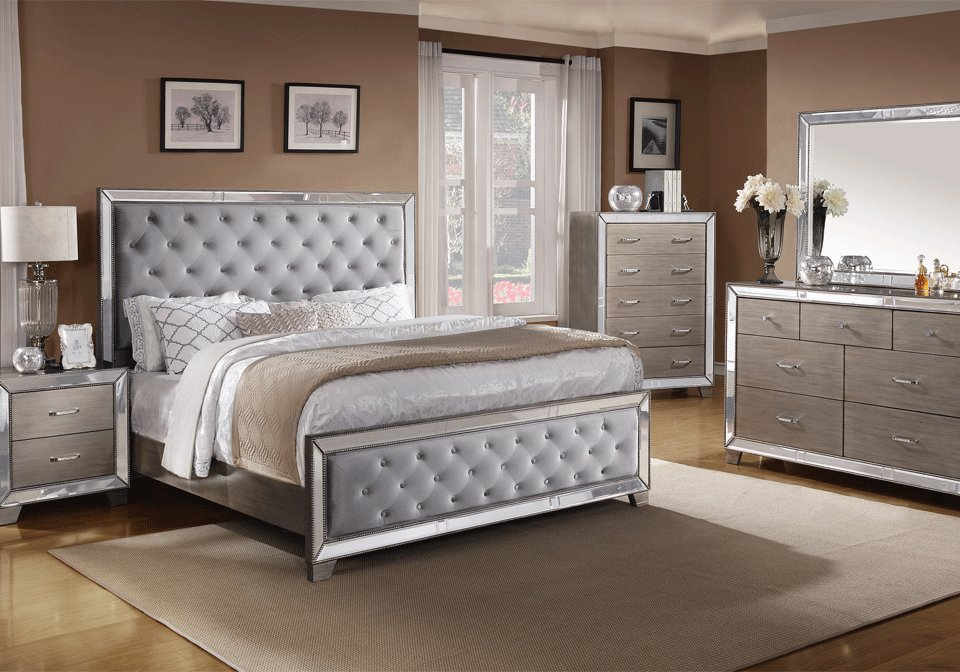 Best Cosette Silver Queen Bedroom Set Local Overstock With Pictures