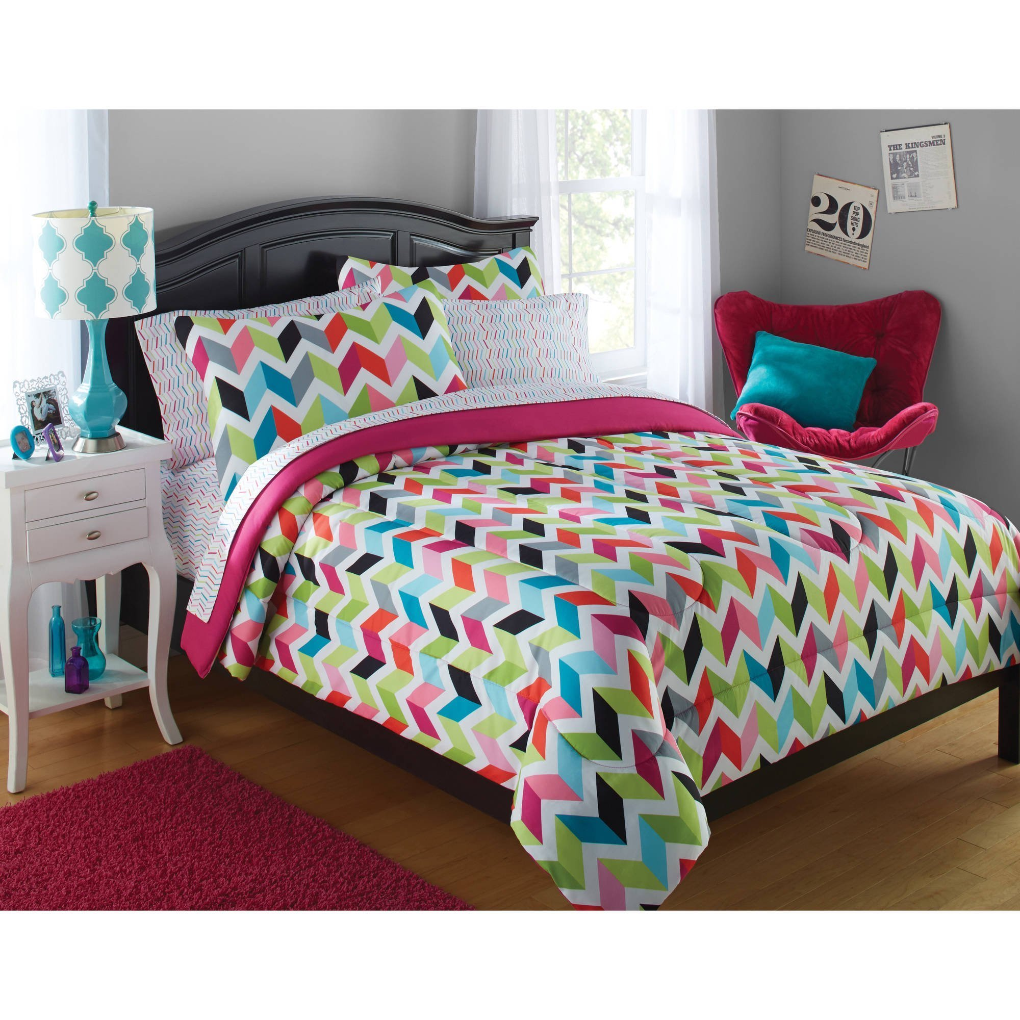Best Your Zone Tribal Bedding Comforter Set Walmart Com With Pictures