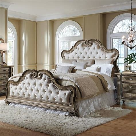 Best Amazon Com Pulaski Arabella Upholstered Bed King With Pictures