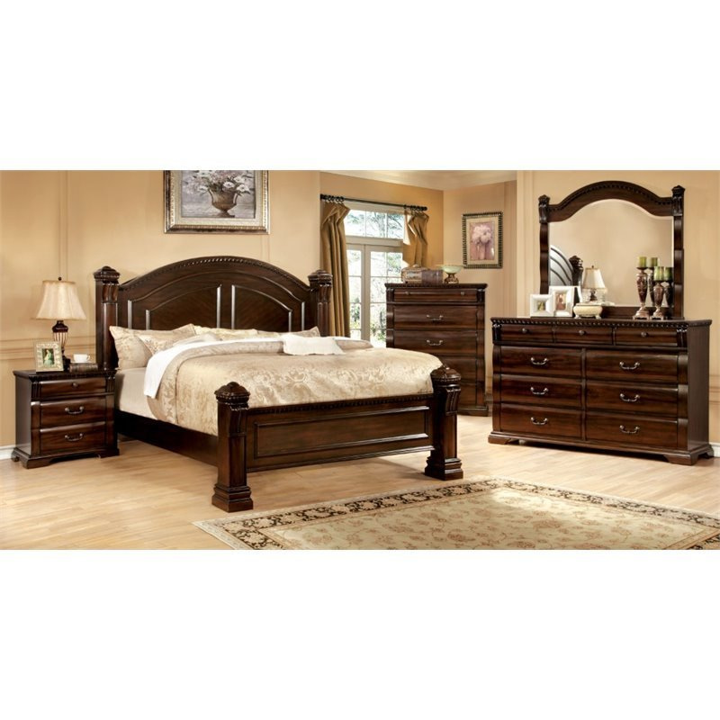 Best Furniture Of America Oulette 4 Piece Queen Bedroom Set In With Pictures