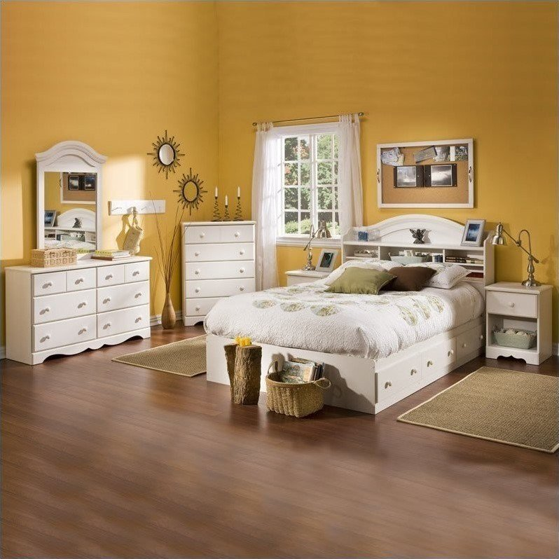 Best South Shore Summer Breeze Full Size Kids 6 Piece Bedroom Set 3210211 6Pkg With Pictures