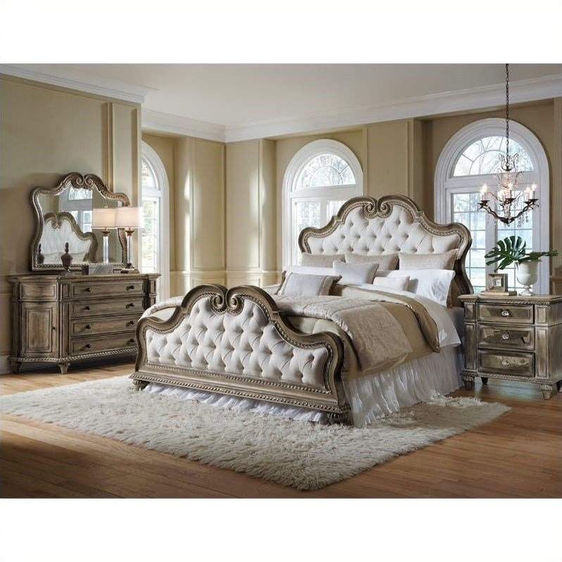 Best Pulaski Arabella Uph Bed With Dresser Mirror And With Pictures