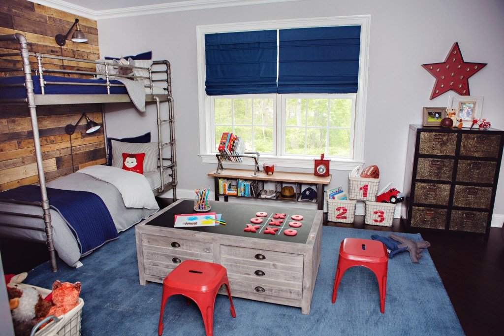 Best Rh Baby Child Industrial Vintage Boy S Room Makeover With Pictures