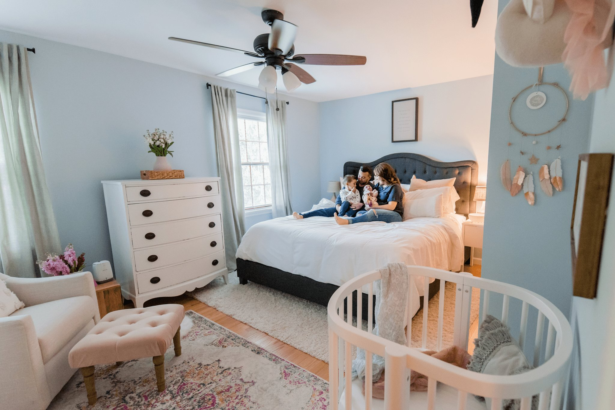 Best The Sweetest Little Nursery Nook In A Master Bedroom With Pictures