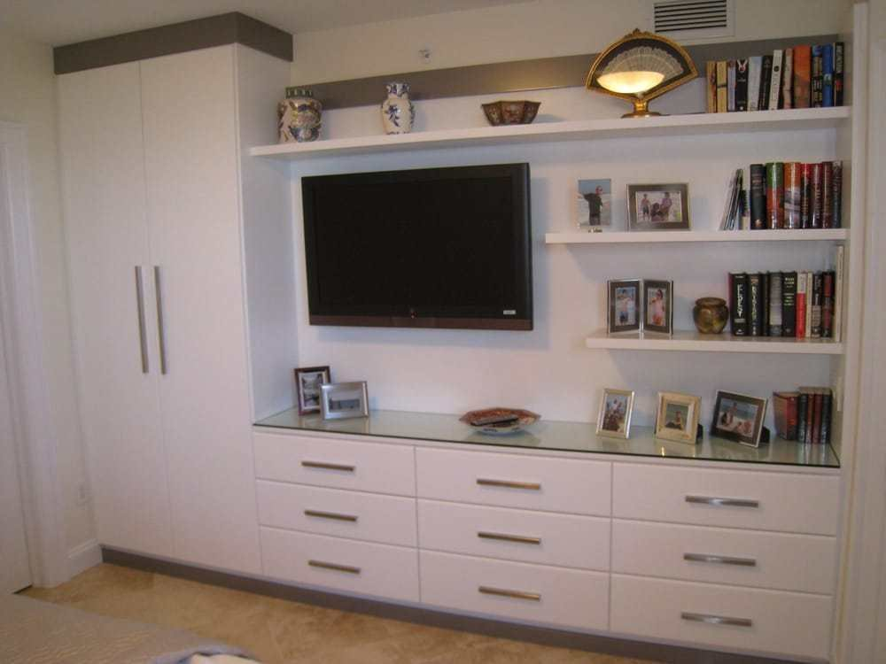 Best Custom Entertainment Center In Bedroom With Wardrobe And With Pictures
